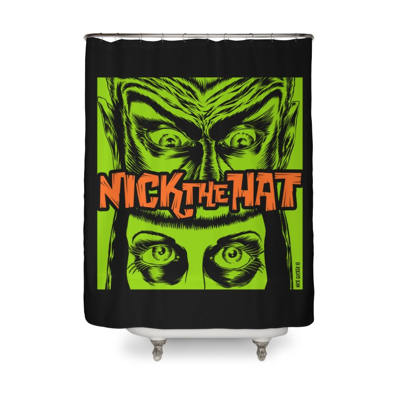 "Nick the Hat ""Sinister Eyes"" Home Shower Curtain by Nick the Hat"