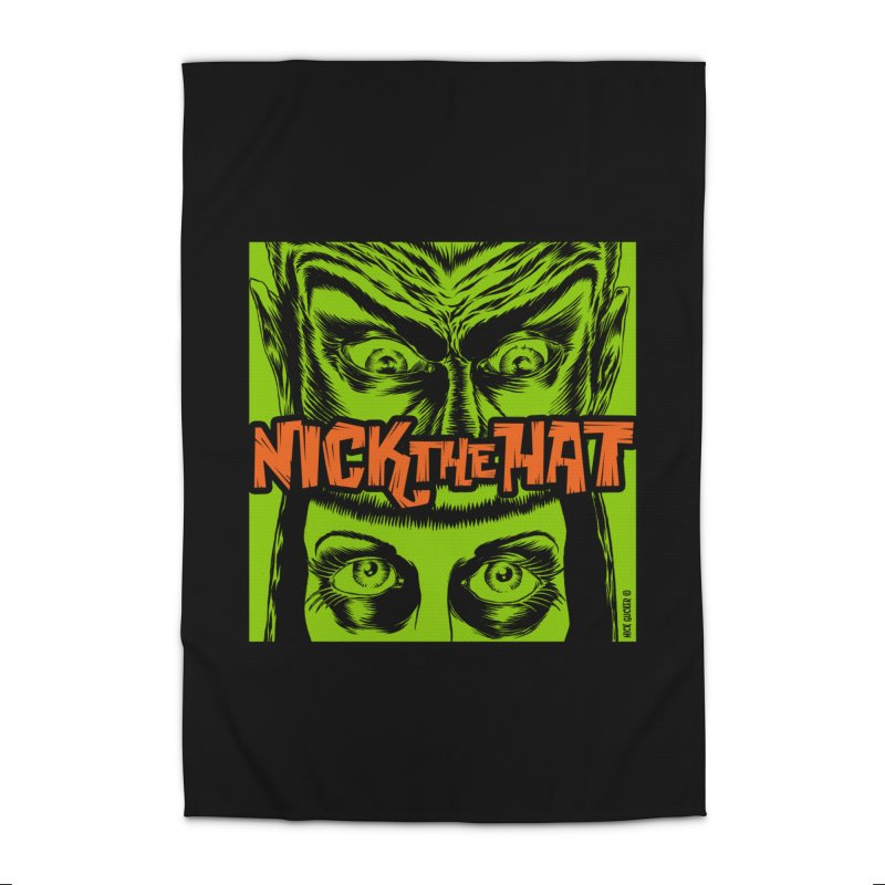 """Nick the Hat """"Sinister Eyes"""" Home Rug by Nick the Hat"""