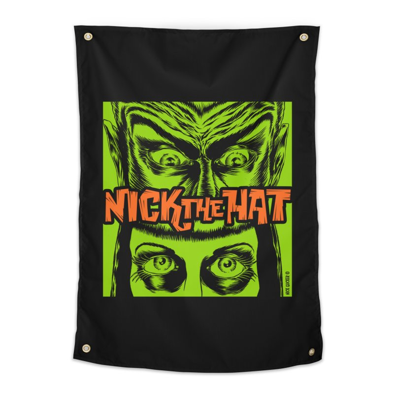 "Nick the Hat ""Sinister Eyes"" Home Tapestry by Nick the Hat"