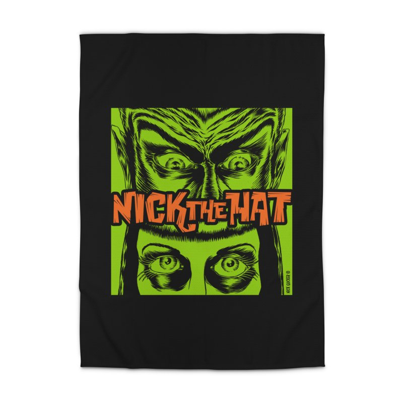 "Nick the Hat ""Sinister Eyes"" Home Rug by Nick the Hat"