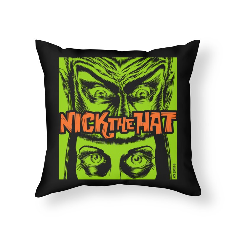 "Nick the Hat ""Sinister Eyes"" Home Throw Pillow by Nick the Hat"