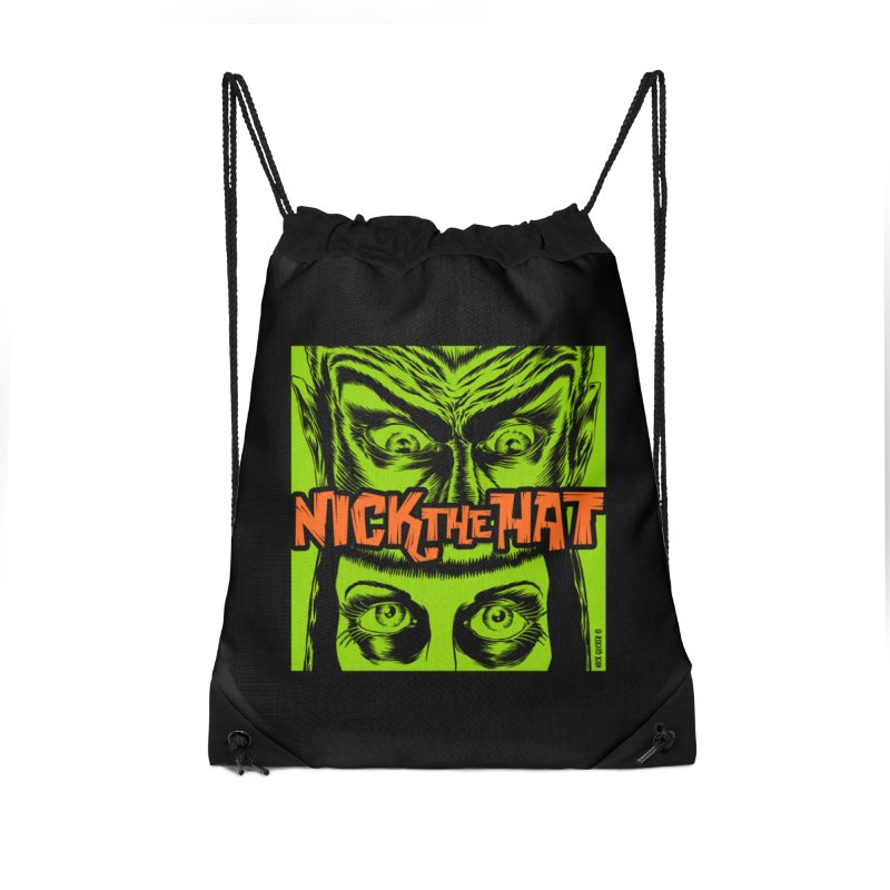 """Nick the Hat """"Sinister Eyes"""" Accessories Drawstring Bag Bag by Nick the Hat"""