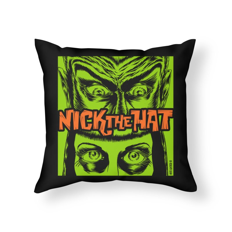 """Nick the Hat """"Sinister Eyes"""" Home Throw Pillow by Nick the Hat"""