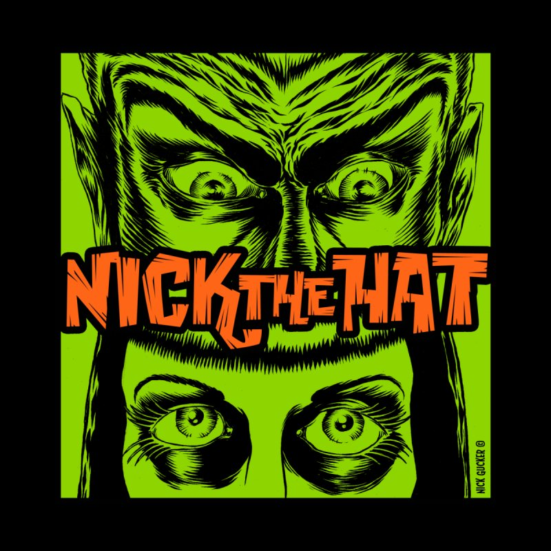 "Nick the Hat ""Sinister Eyes"" Men's Baseball Triblend T-Shirt by Nick the Hat"