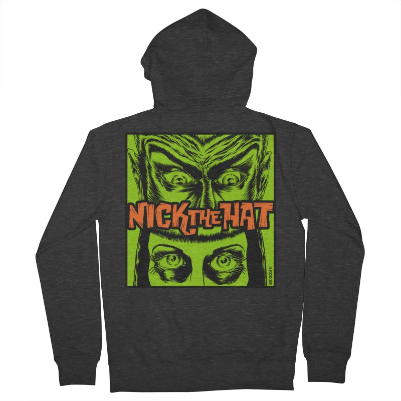 "Nick the Hat ""Sinister Eyes"" Women's Zip-Up Hoody by Nick the Hat"