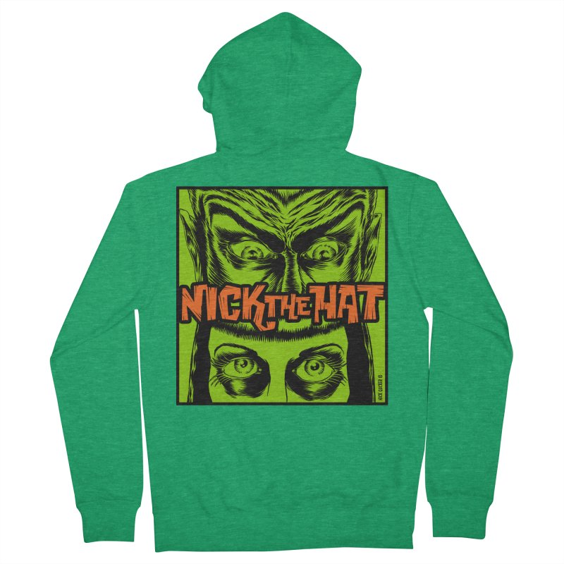 """Nick the Hat """"Sinister Eyes"""" Men's Zip-Up Hoody by Nick the Hat"""