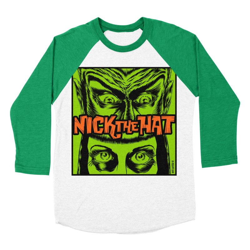 """Nick the Hat """"Sinister Eyes"""" Women's Longsleeve T-Shirt by Nick the Hat"""