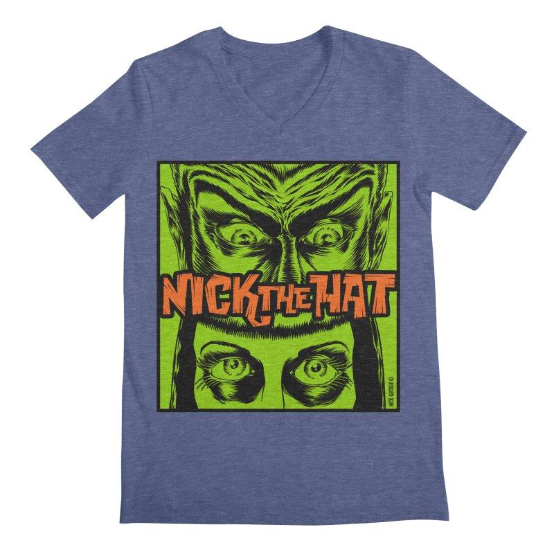 "Nick the Hat ""Sinister Eyes"" Men's V-Neck by Nick the Hat"