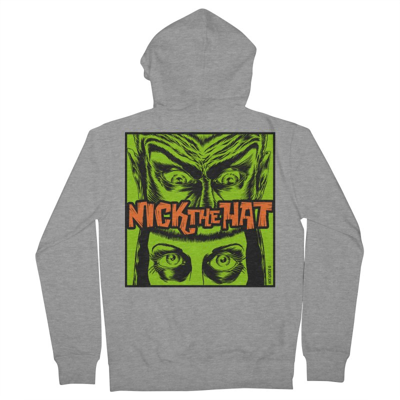 """Nick the Hat """"Sinister Eyes"""" Women's Zip-Up Hoody by Nick the Hat"""