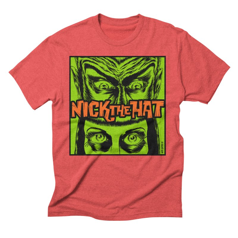 """Nick the Hat """"Sinister Eyes"""" Men's Triblend T-Shirt by Nick the Hat"""