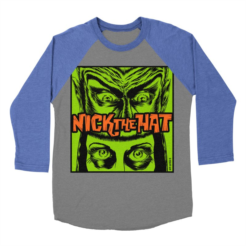 """Nick the Hat """"Sinister Eyes"""" Women's Baseball Triblend T-Shirt by Nick the Hat"""