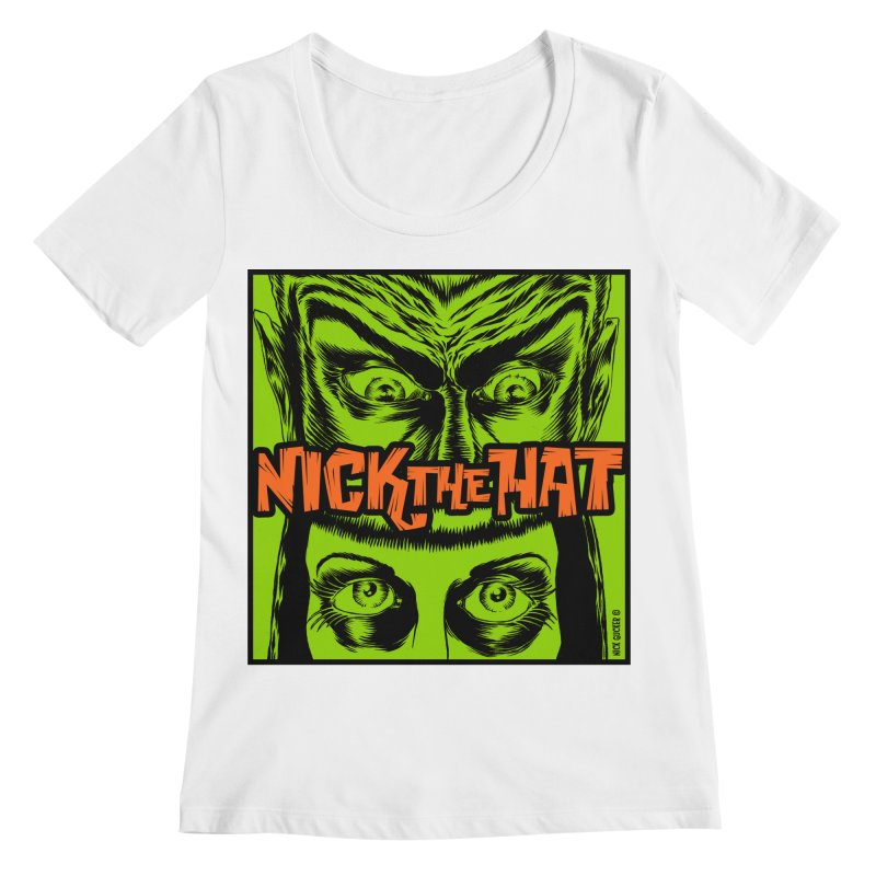 """Nick the Hat """"Sinister Eyes"""" Women's Scoopneck by Nick the Hat"""