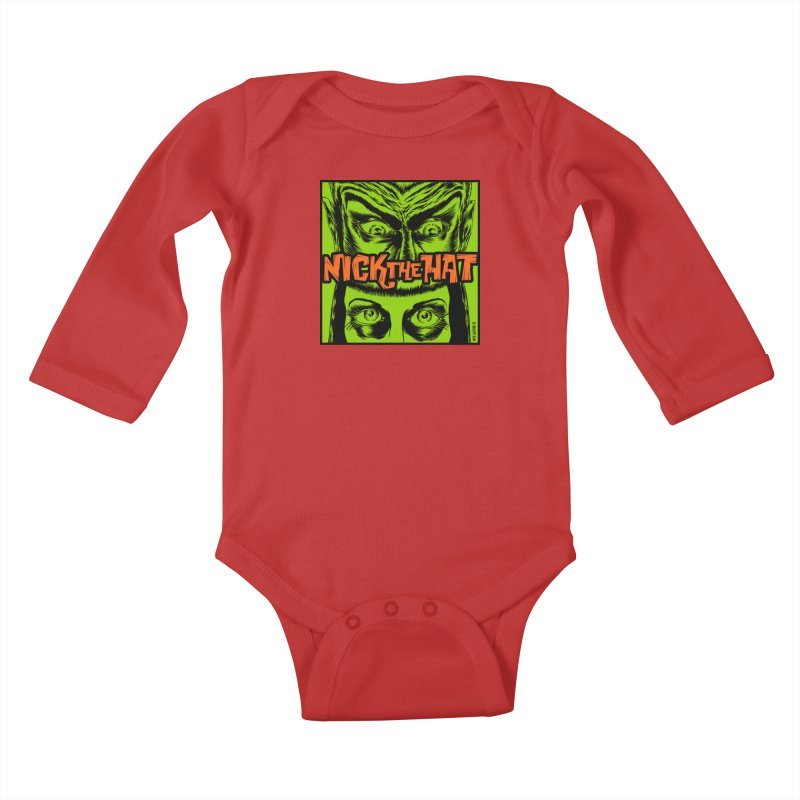 "Nick the Hat ""Sinister Eyes"" Kids Baby Longsleeve Bodysuit by Nick the Hat"