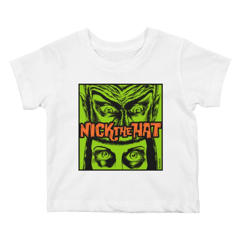 """Nick the Hat """"Sinister Eyes"""" Kids Baby T-Shirt by Nick the Hat"""