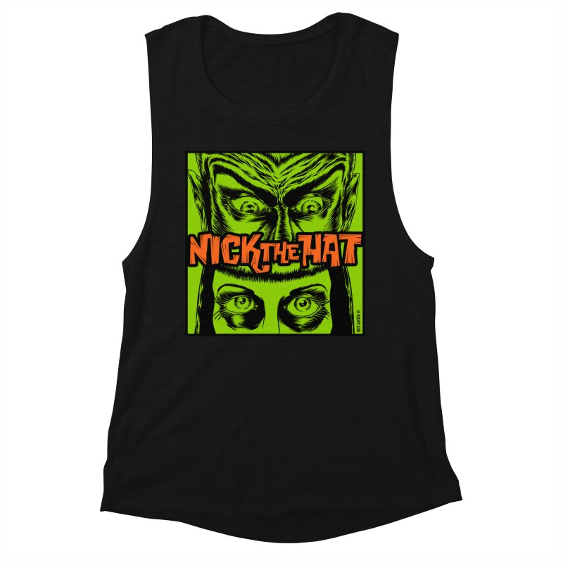 """Nick the Hat """"Sinister Eyes"""" Women's Tank by Nick the Hat"""