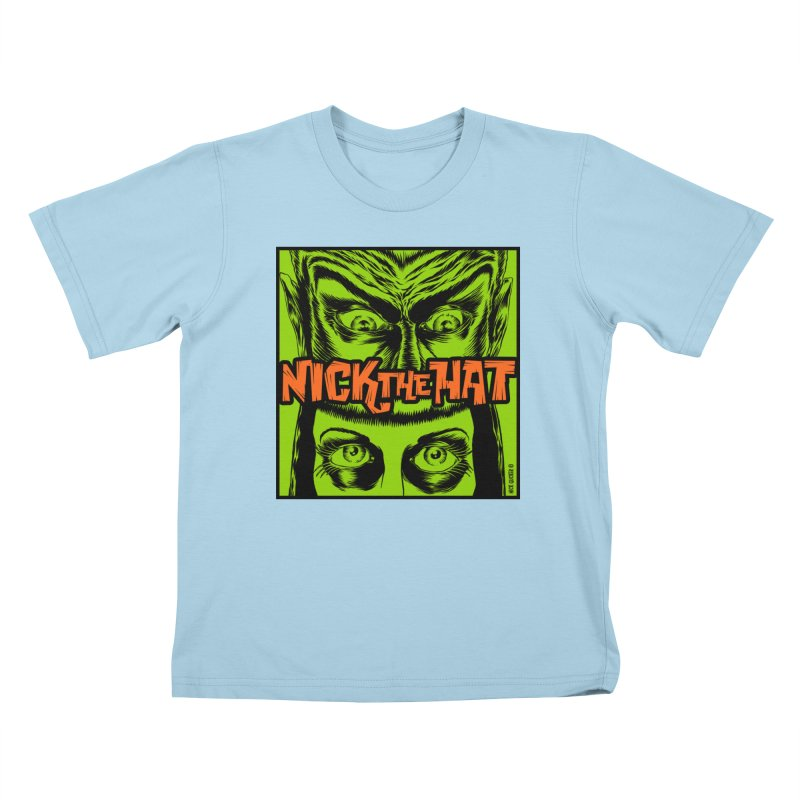 """Nick the Hat """"Sinister Eyes"""" Kids T-Shirt by Nick the Hat"""