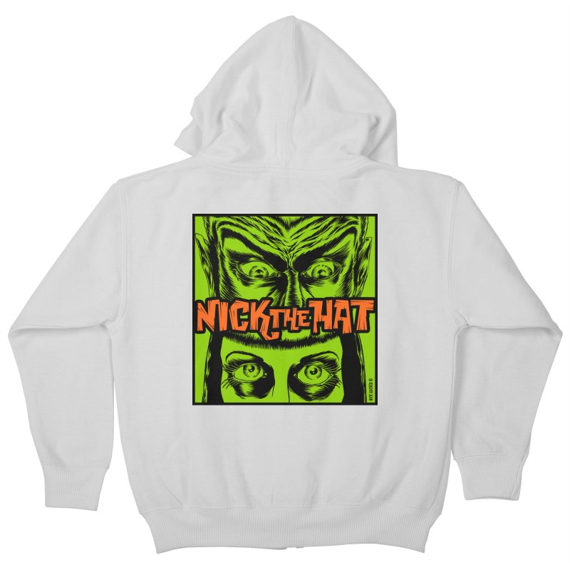 "Nick the Hat ""Sinister Eyes"" Kids Zip-Up Hoody by Nick the Hat"