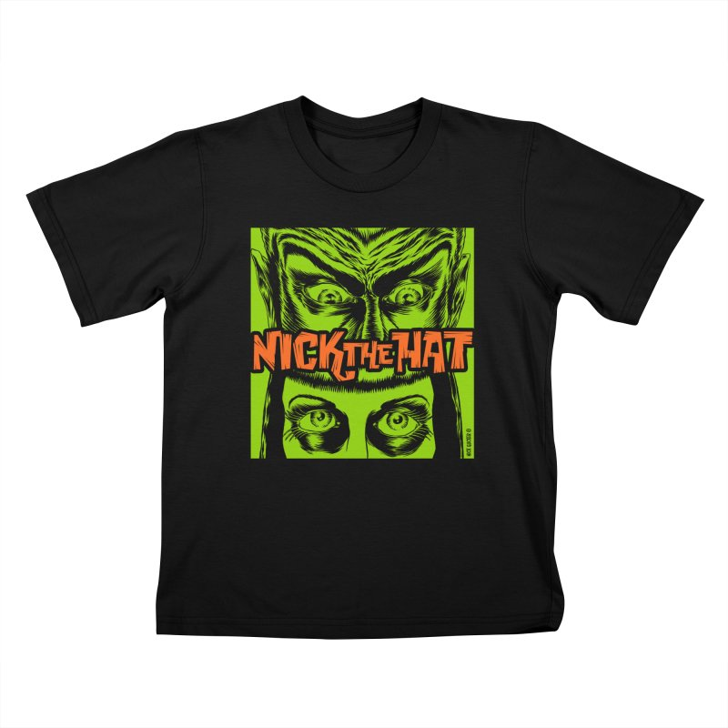 "Nick the Hat ""Sinister Eyes"" Kids T-Shirt by Nick the Hat"