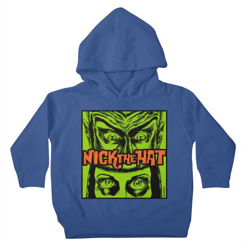 """Nick the Hat """"Sinister Eyes"""" Kids Toddler Pullover Hoody by Nick the Hat"""
