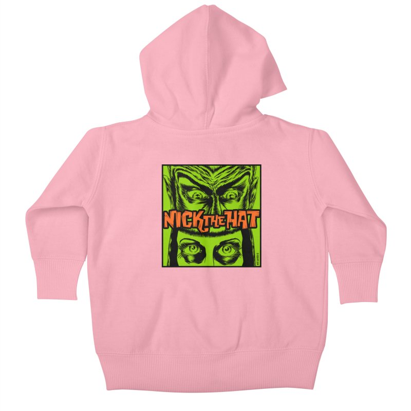 "Nick the Hat ""Sinister Eyes"" Kids Baby Zip-Up Hoody by Nick the Hat"