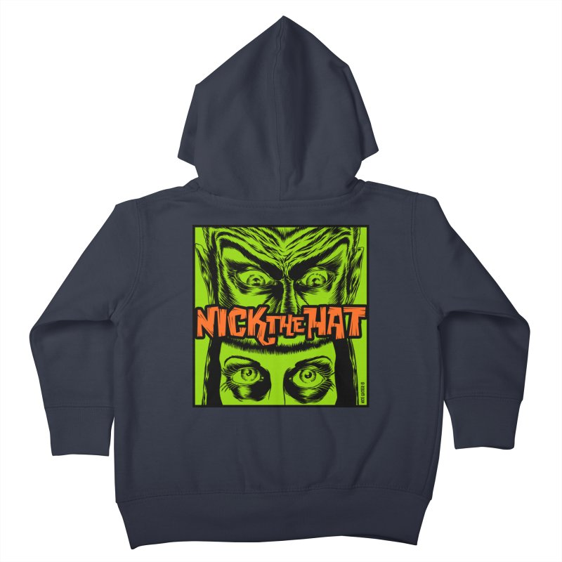 """Nick the Hat """"Sinister Eyes"""" Kids Toddler Zip-Up Hoody by Nick the Hat"""