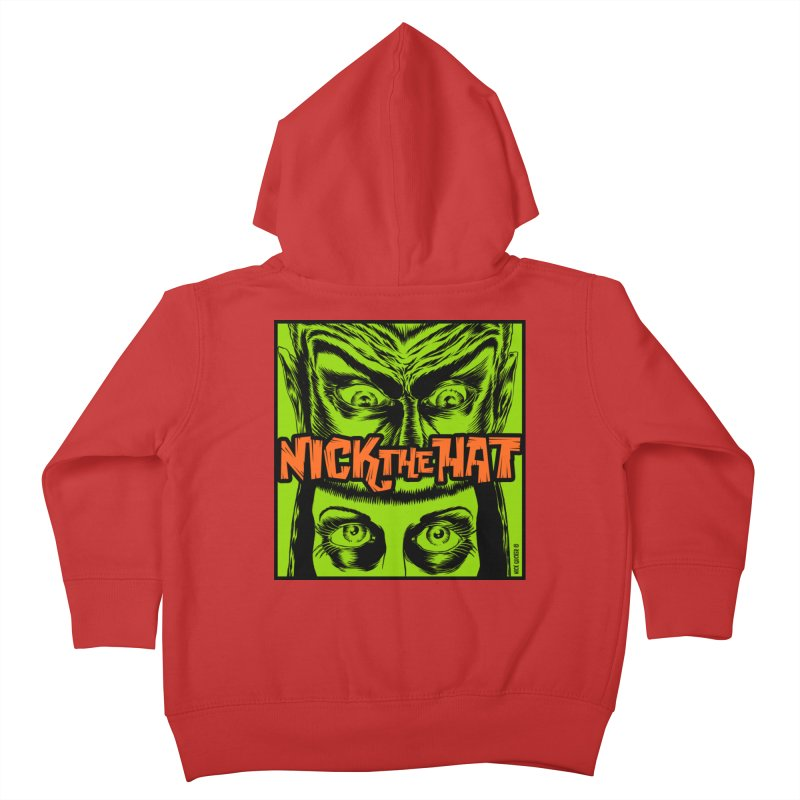 "Nick the Hat ""Sinister Eyes"" Kids Toddler Zip-Up Hoody by Nick the Hat"