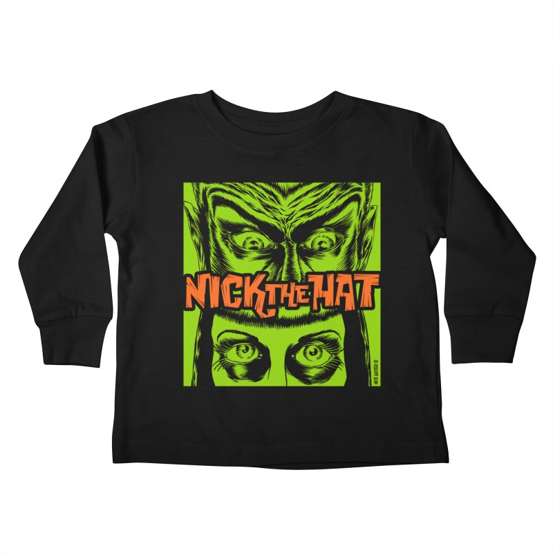 "Nick the Hat ""Sinister Eyes"" Kids Toddler Longsleeve T-Shirt by Nick the Hat"
