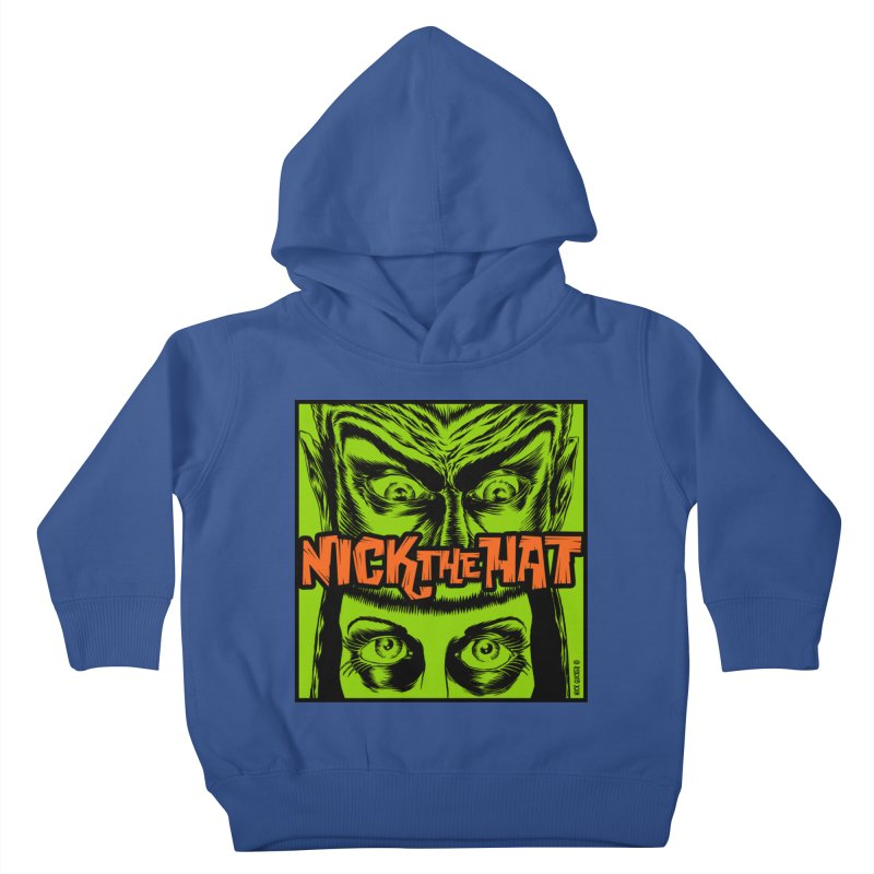 "Nick the Hat ""Sinister Eyes"" Kids Toddler Pullover Hoody by Nick the Hat"