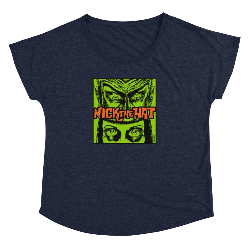 """Nick the Hat """"Sinister Eyes"""" Women's Scoop Neck by Nick the Hat"""