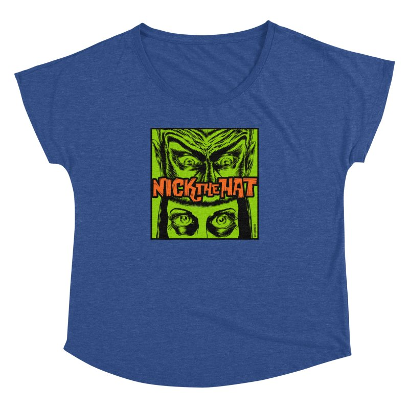 """Nick the Hat """"Sinister Eyes"""" Women's Dolman by Nick the Hat"""