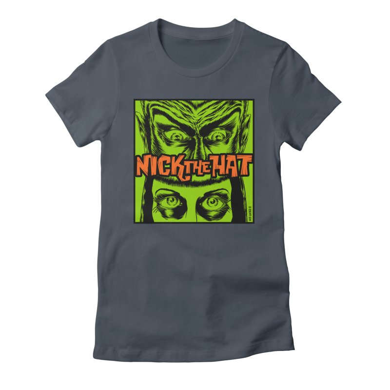 "Nick the Hat ""Sinister Eyes"" Women's Fitted T-Shirt by Nick the Hat"