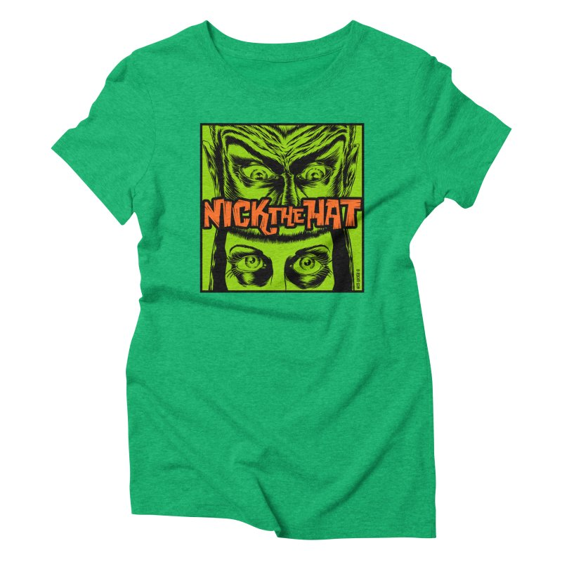 """Nick the Hat """"Sinister Eyes"""" Women's Triblend T-Shirt by Nick the Hat"""