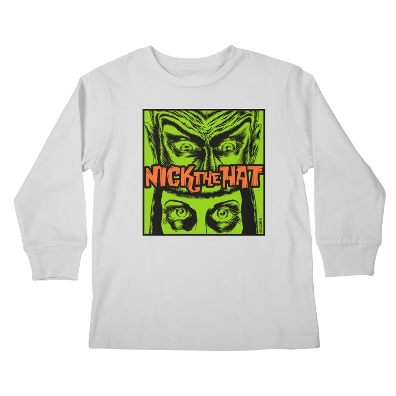 """Nick the Hat """"Sinister Eyes"""" Kids Longsleeve T-Shirt by Nick the Hat"""