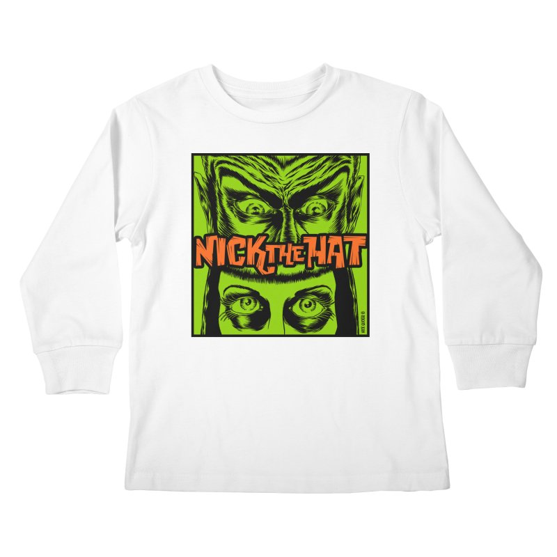 "Nick the Hat ""Sinister Eyes"" Kids Longsleeve T-Shirt by Nick the Hat"