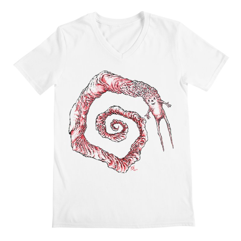 Spiral Joy Men's V-Neck by Nick the Hat