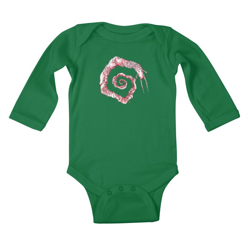 Spiral Joy Kids Baby Longsleeve Bodysuit by Nick the Hat