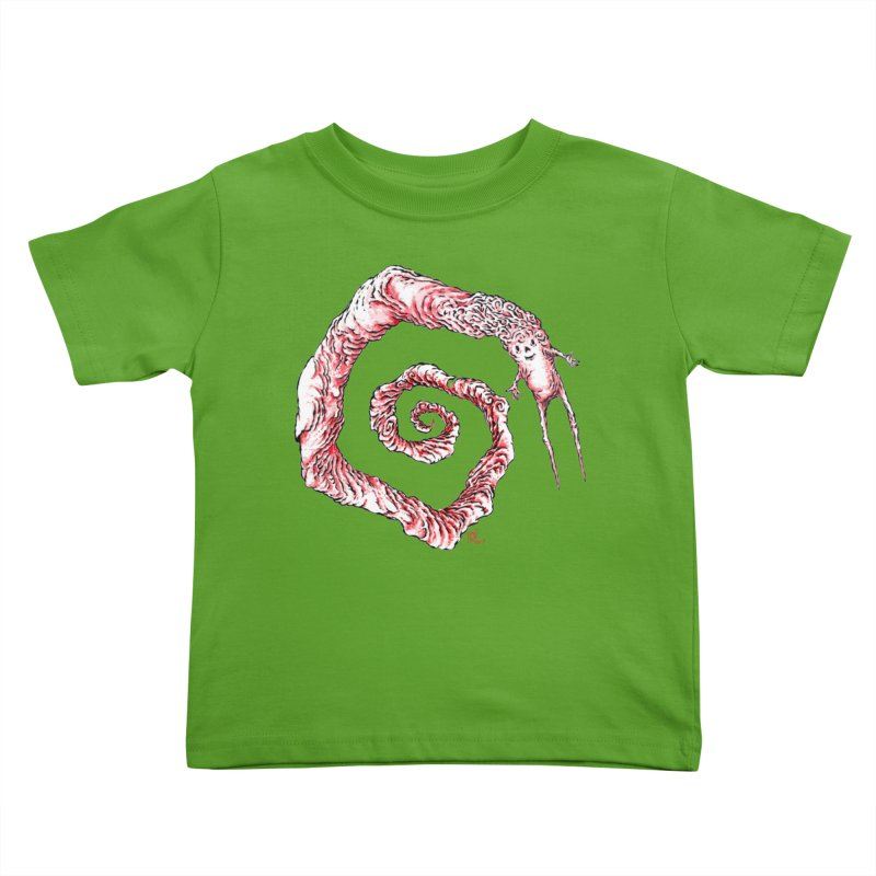Spiral Joy Kids Toddler T-Shirt by Nick the Hat