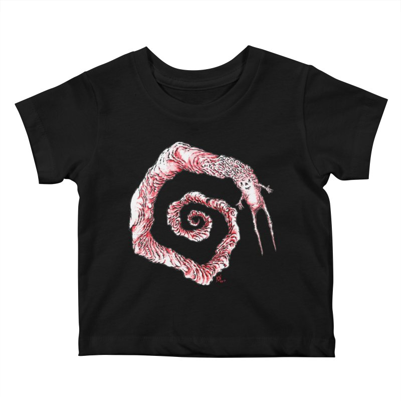 Spiral Joy Kids Baby T-Shirt by Nick the Hat