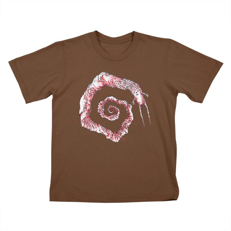 Spiral Joy Kids T-Shirt by Nick the Hat