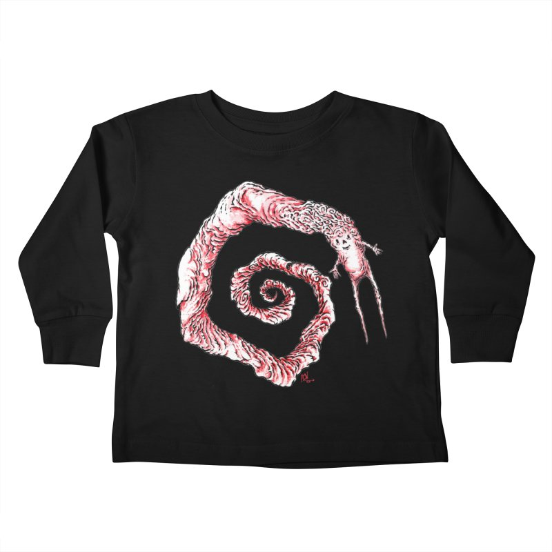 Spiral Joy Kids Toddler Longsleeve T-Shirt by Nick the Hat