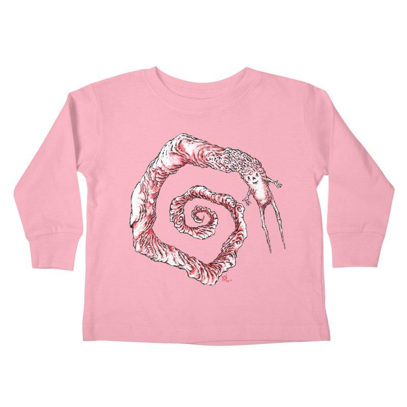 Spiral Joy Kids Toddler Longsleeve T-Shirt by Nick the Hat