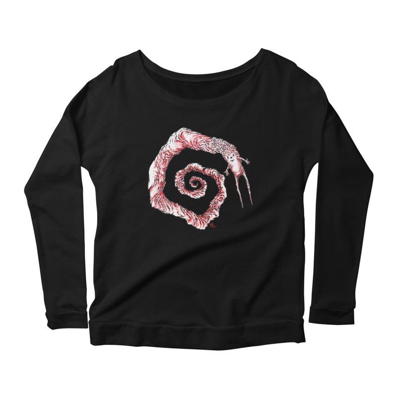 Spiral Joy Women's Scoop Neck Longsleeve T-Shirt by Nick the Hat