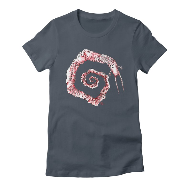 Spiral Joy Women's Fitted T-Shirt by Nick the Hat