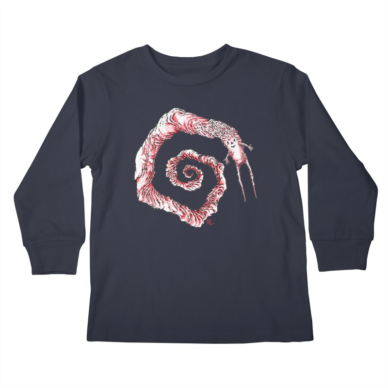 Spiral Joy Kids Longsleeve T-Shirt by Nick the Hat