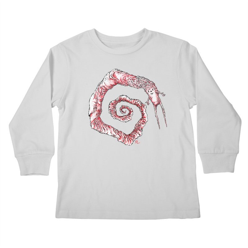 Spiral Joy Kids Longsleeve T-Shirt by Nick the Hat