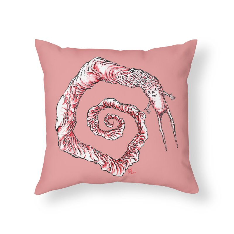 Spiral Joy Home Throw Pillow by Nick the Hat