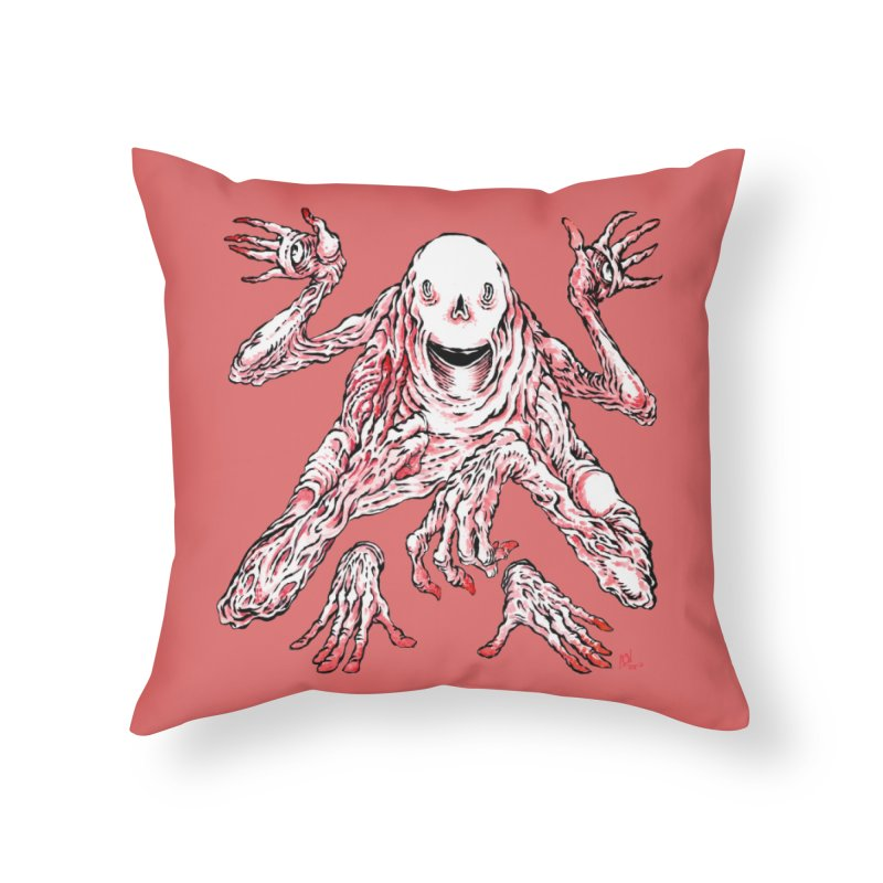Slight of Hand(s) Home Throw Pillow by Nick the Hat