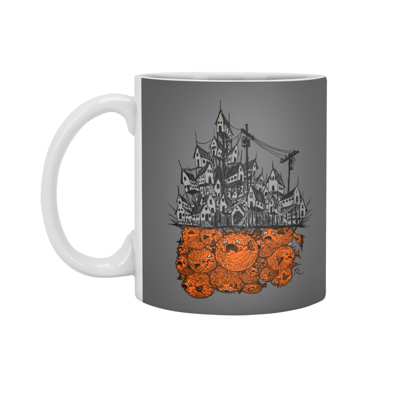 Pufferfish City Accessories Standard Mug by Nick the Hat