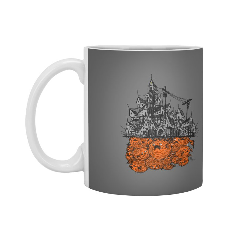 Pufferfish City Accessories Mug by Nick the Hat