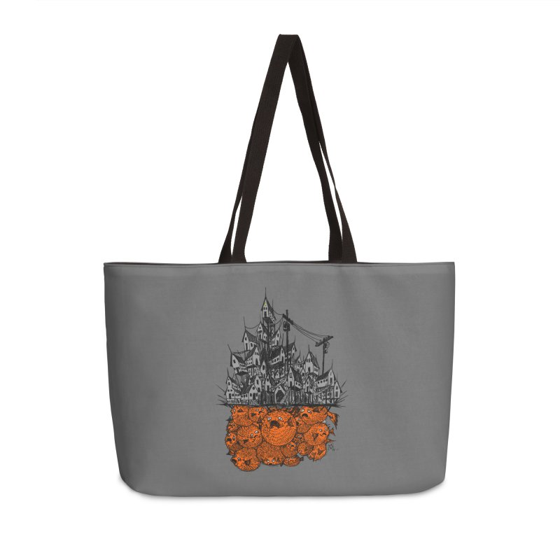 Pufferfish City Accessories Weekender Bag Bag by Nick the Hat